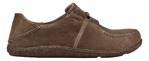Mens Olukai Honua Leather Casual Shoe - Ecru/Ecru 10
