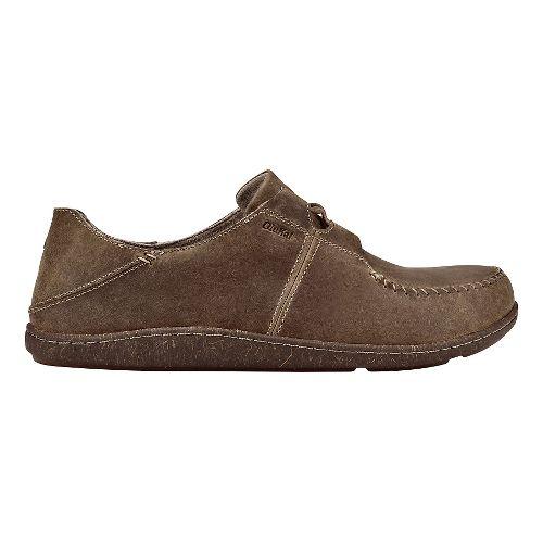 Mens Olukai Honua Leather Casual Shoe - Ecru/Ecru 8