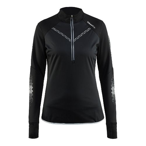 Womens Craft Brilliant 2.0 Thermal Wind Top Half-Zips & Hoodies Technical Tops - Black M ...