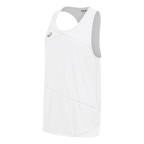 Mens ASICS Gunlap Singlet Sleeveless & Tank Tops Technical Tops - White/White 3XL