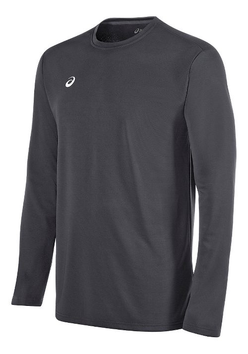 Mens ASICS Circuit 8 Warm-Up Long Sleeve Technical Tops - Steel Grey XXL