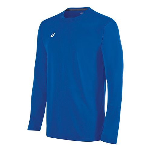 Mens ASICS Circuit 8 Warm-Up Long Sleeve Technical Tops - Royal XL