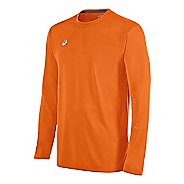 Mens ASICS Circuit 8 Warm-Up Long Sleeve Technical Tops - Navy XS