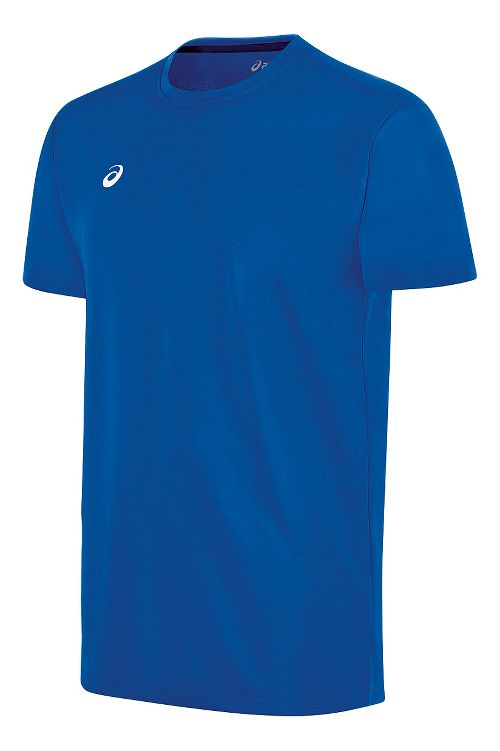 Mens ASICS Circuit 8 Warm-Up Shirt Short Sleeve Technical Tops - Royal XXL