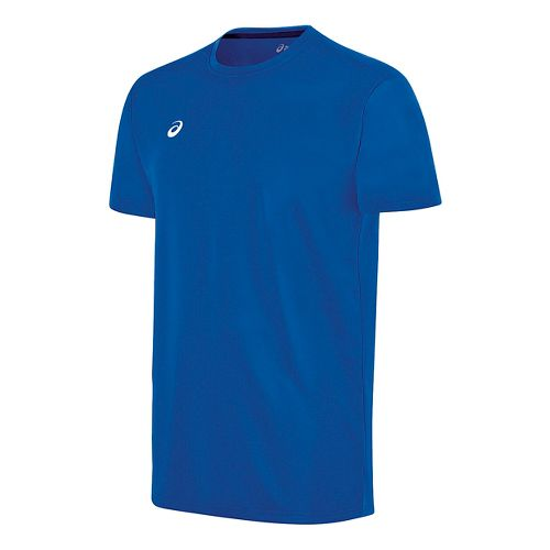 Mens ASICS Circuit 8 Warm-Up Shirt Short Sleeve Technical Tops - Royal 3XL