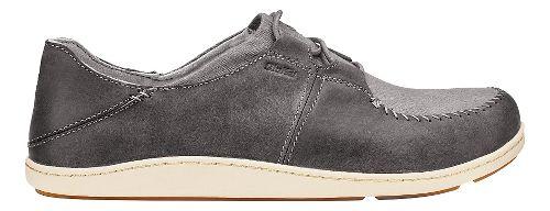 Mens Olukai Honua Casual Shoe - Charcoal/Charcoal 10