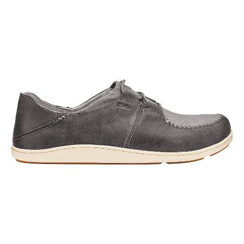 Mens Olukai Honua Casual Shoe - Charcoal/Charcoal 9
