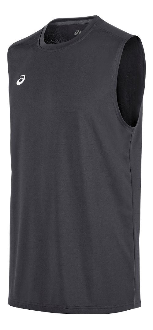 Mens ASICS Circuit 8 Warm-Up Sleeveless & Tank Tops Technical Tops - Steel Grey XXL
