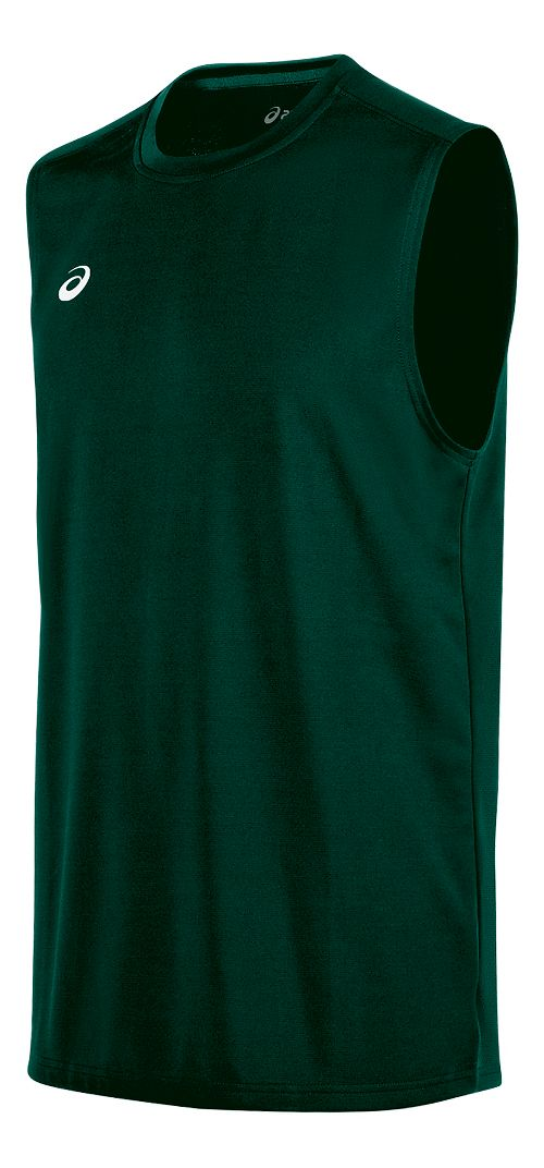 Mens ASICS Circuit 8 Warm-Up Sleeveless & Tank Tops Technical Tops - Forest L