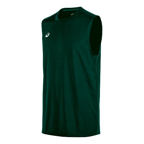 Mens ASICS Circuit 8 Warm-Up Sleeveless & Tank Tops Technical Tops - Forest XS