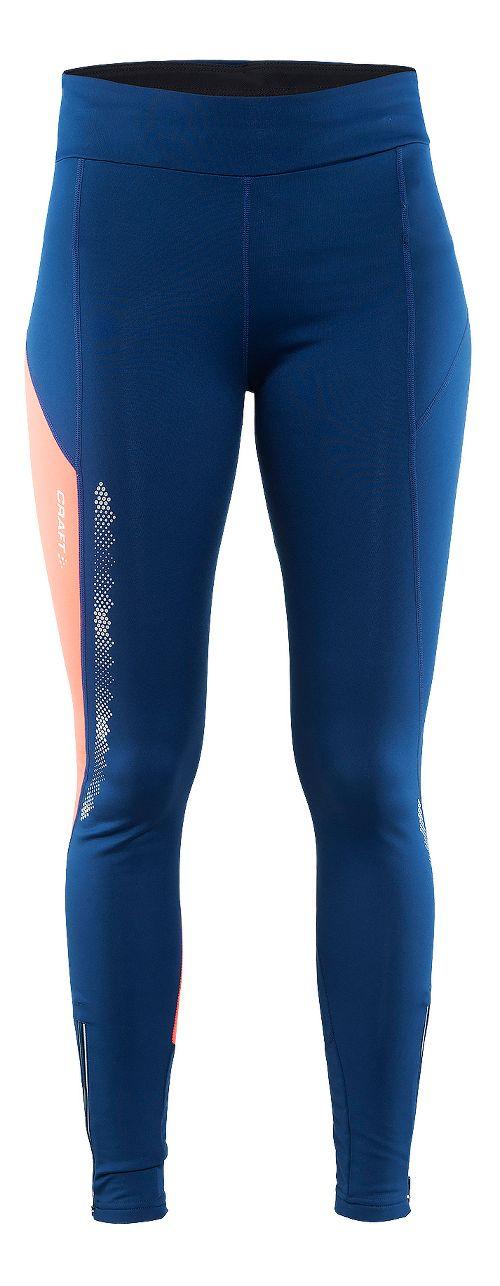 Womens Craft Brilliant 2.0 Thermal Tights & Leggings Pants - Deep/Pink M