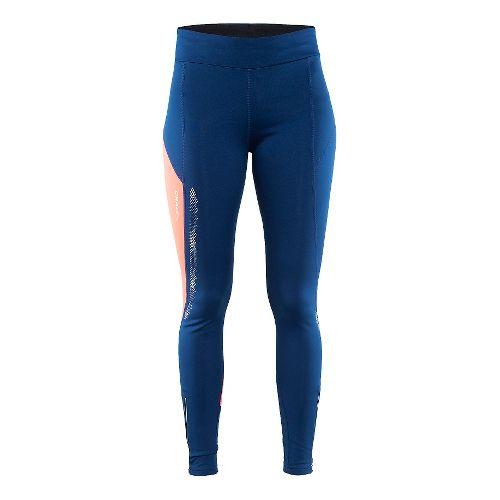 Womens Craft Brilliant 2.0 Thermal Tights & Leggings Pants - Deep/Pink S