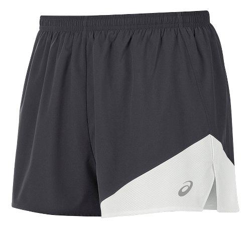 Mens ASICS Gunlap 1/2 Split Lined Shorts - Steel Grey/White L