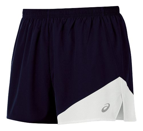 Mens ASICS Gunlap 1/2 Split Lined Shorts - Navy/White S