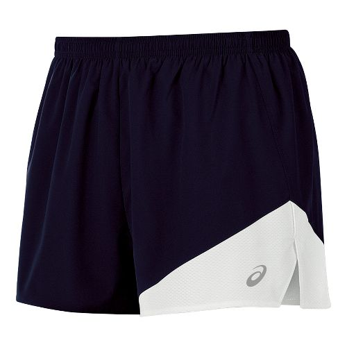 Mens ASICS Gunlap 1/2 Split Lined Shorts - Navy/White L