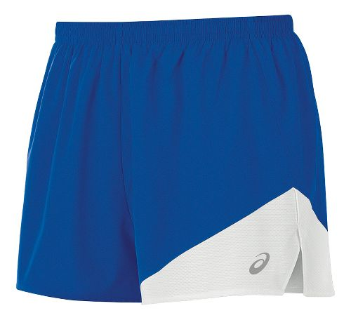 Mens ASICS Gunlap 1/2 Split Lined Shorts - Royal/White S