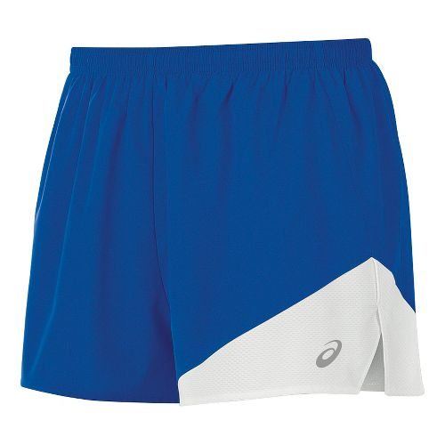 Mens ASICS Gunlap 1/2 Split Lined Shorts - Royal/White M