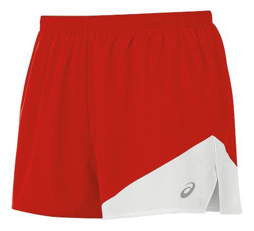 Mens ASICS Gunlap 1/2 Split Lined Shorts - Red/White M