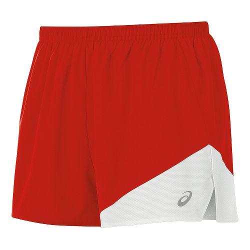 Mens ASICS Gunlap 1/2 Split Lined Shorts - Red/White S