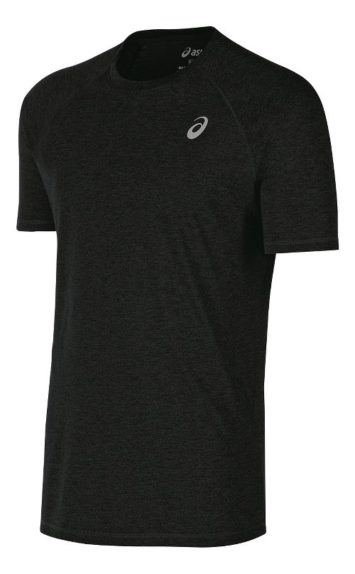 Mens ASICS TM Essential Tee Short Sleeve Technical Tops - Black XL