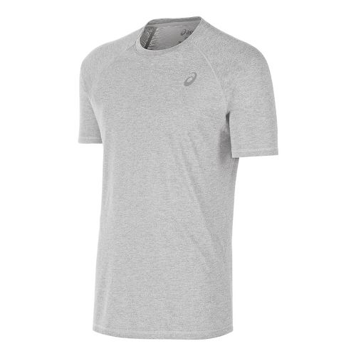Mens ASICS TM Essential Tee Short Sleeve Technical Tops - Heather Grey L