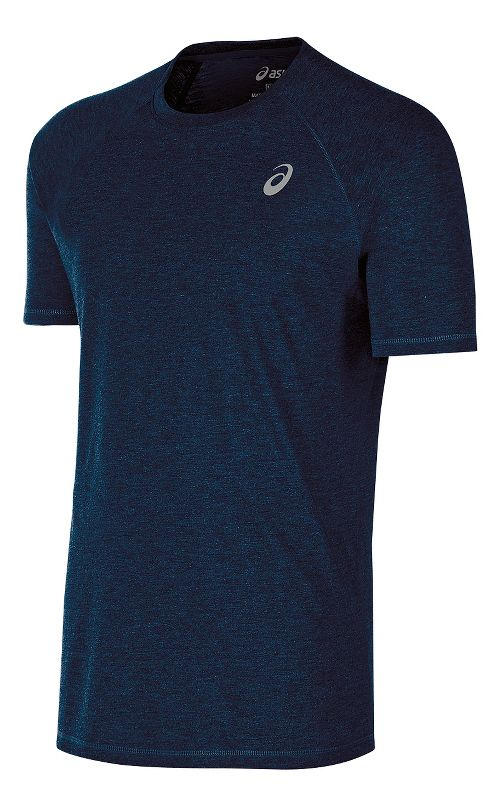 Mens ASICS TM Essential Tee Short Sleeve Technical Tops - Navy M