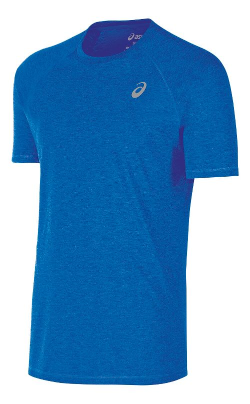 Mens ASICS TM Essential Tee Short Sleeve Technical Tops - Royal M