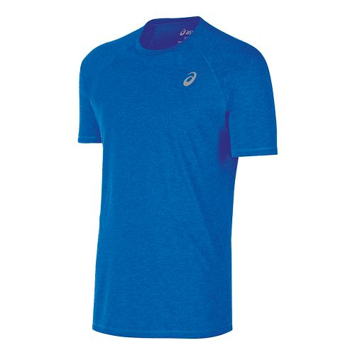 Mens ASICS TM Essential Tee Short Sleeve Technical Tops - Royal XL