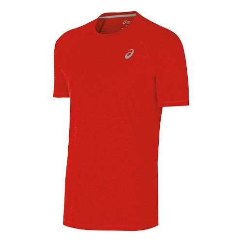 Mens ASICS TM Essential Tee Short Sleeve Technical Tops - Red L