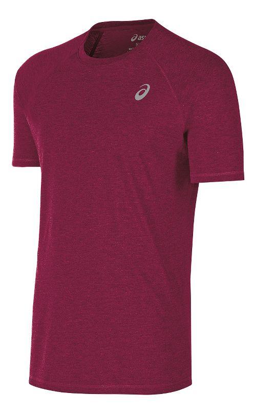 Mens ASICS TM Essential Tee Short Sleeve Technical Tops - Cardinal XL