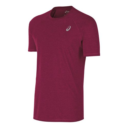 Mens ASICS TM Essential Tee Short Sleeve Technical Tops - Cardinal XXL