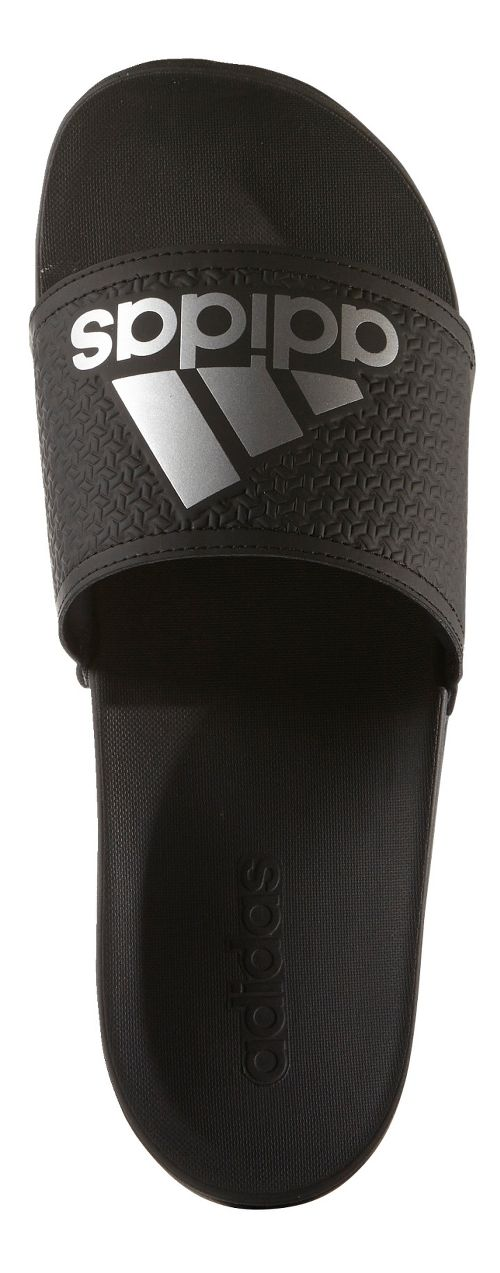 Mens Adidas Adilette CF Ultra Logo Sandals Shoe - Black/Silver 8