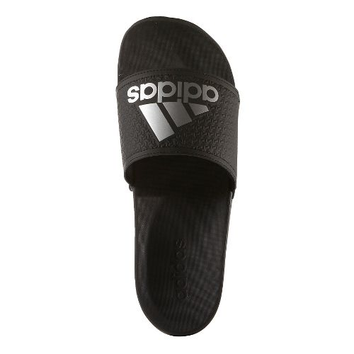 Mens Adidas Adilette CF Ultra Logo Sandals Shoe - Black/Silver 8