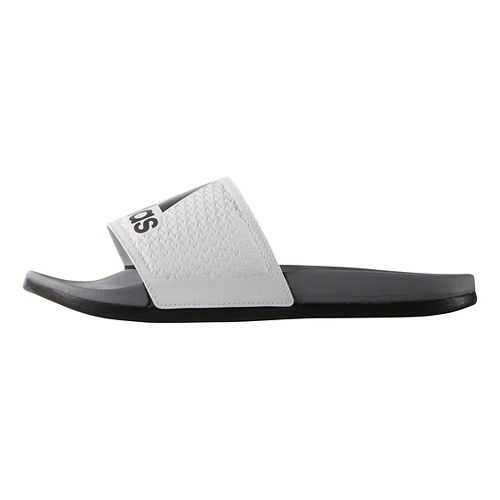 Mens Adidas Adilette CF Ultra Logo Sandals Shoe - Black/Silver 9