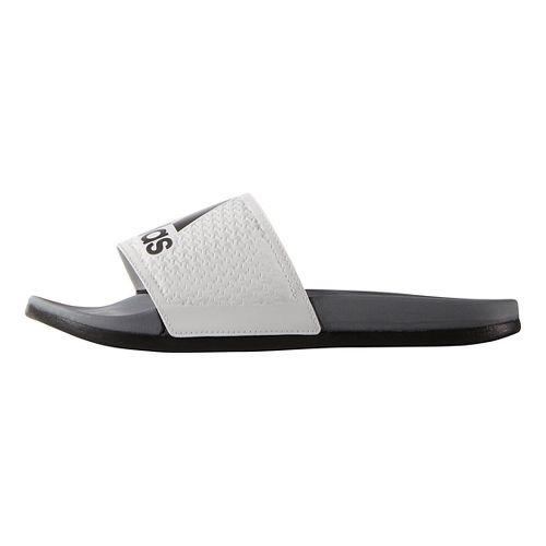 Mens Adidas Adilette CF Ultra Logo Sandals Shoe - White/Iron Metallic 8