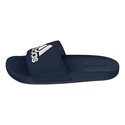 Mens Adidas Adilette CF Ultra Logo Sandals Shoe - Navy/White 7