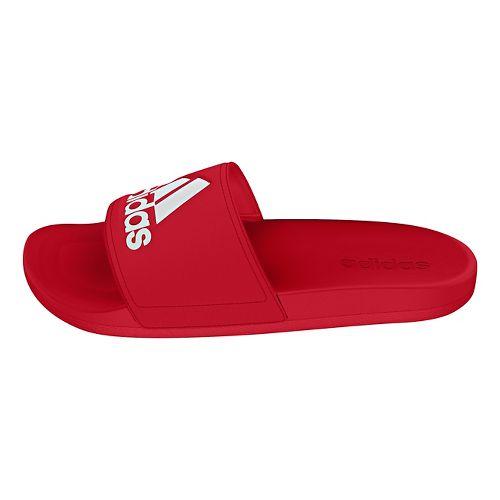 Mens Adidas Adilette CF Ultra Logo Sandals Shoe - Scarlet/White 10