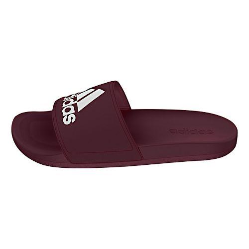 Mens Adidas Adilette CF Ultra Logo Sandals Shoe - Maroon/White 12
