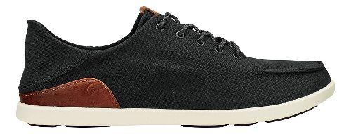 Mens Olukai Manoa Casual Shoe - Black/Mustard 10.5