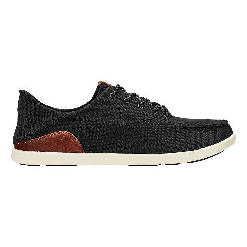 Mens Olukai Manoa Casual Shoe - Black/Mustard 9