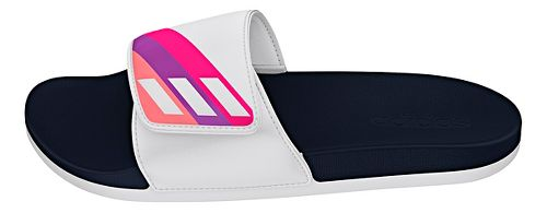 Womens adidas Adilette CF Ultra ADJ Sandals Shoe - White/Pink 9