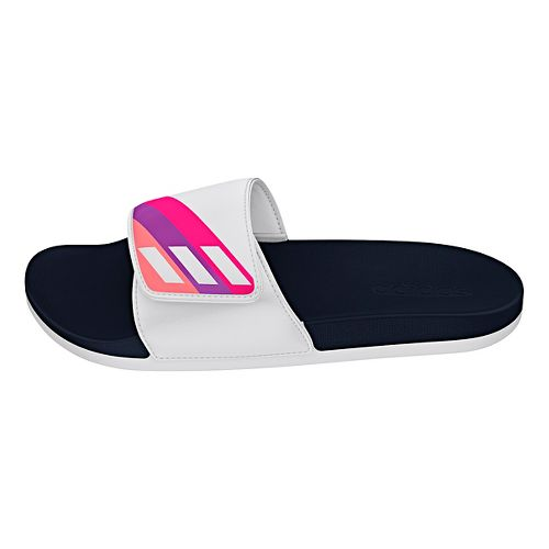 Womens Adidas Adilette CF Ultra ADJ Sandals Shoe - White/Pink 8