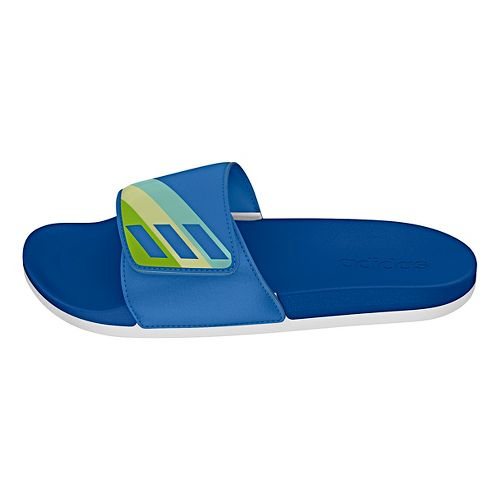 Womens Adidas Adilette CF Ultra ADJ Sandals Shoe - Blue/Green/Yellow 8