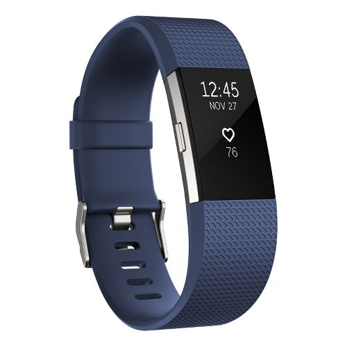 Fitbit Charge 2 Heart Rate + Fitness Wristband Monitors - Blue L