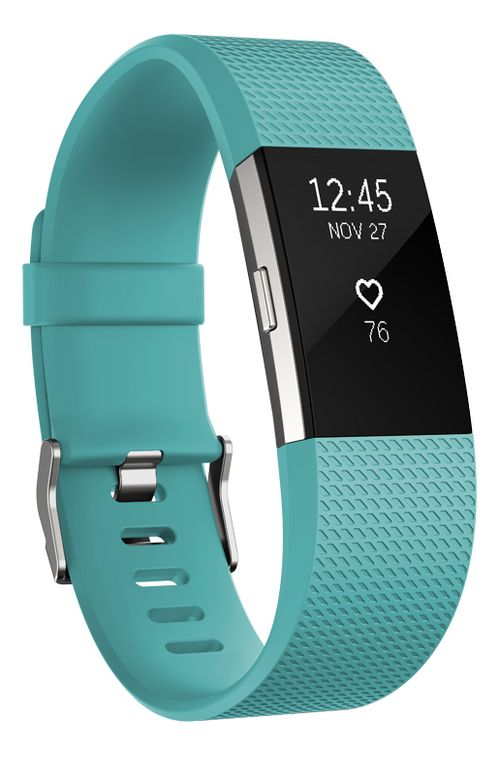 Fitbit Charge 2 Heart Rate + Fitness Wristband Monitors - Teal S