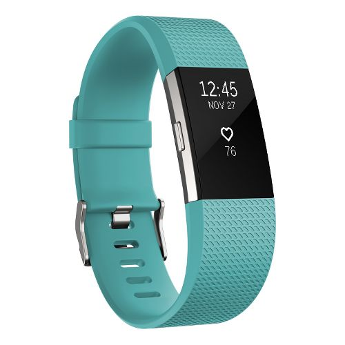 Fitbit Charge 2 Heart Rate + Fitness Wristband Monitors - Teal L