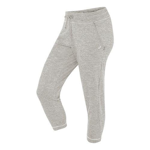 Womens ASICS ASX Lux Capri Pants - Light Grey Heather M