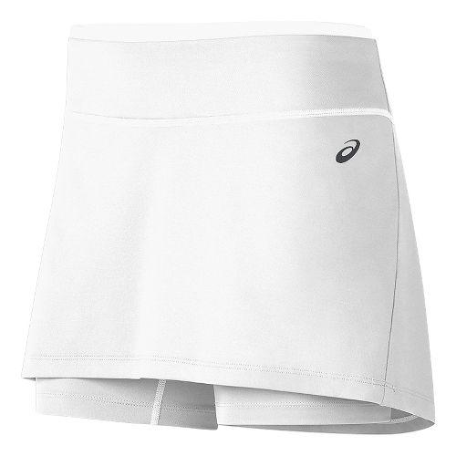 Womens ASICS Club Booty Skorts Fitness Skirts - White XS