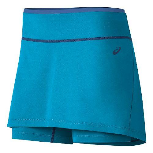 Womens ASICS Club Booty Skorts Fitness Skirts - Diva Blue S