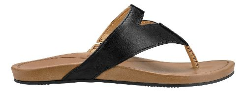 Womens Olukai Lala Sandals Shoe - Black/Tan 5